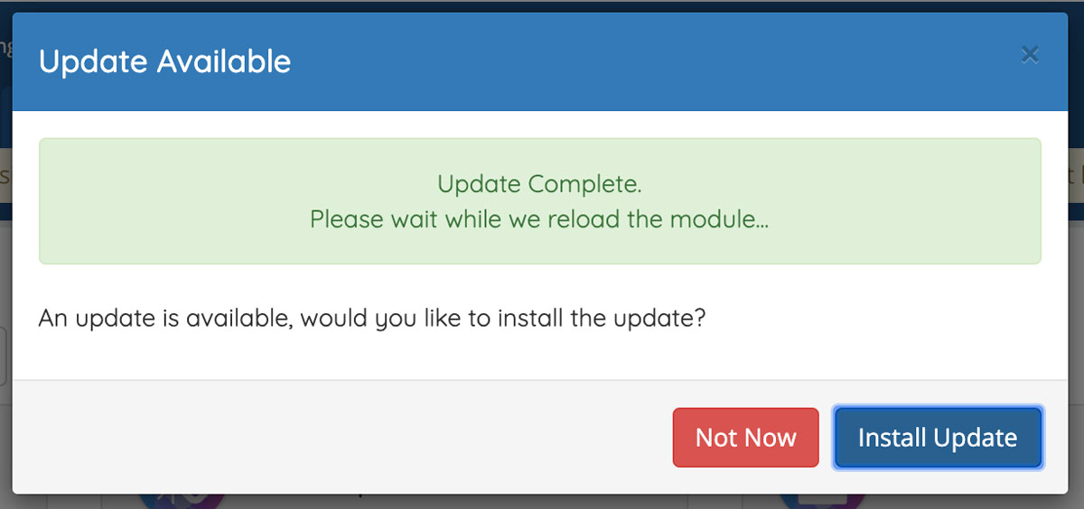 WHMCS Module Shop Automatic Updates